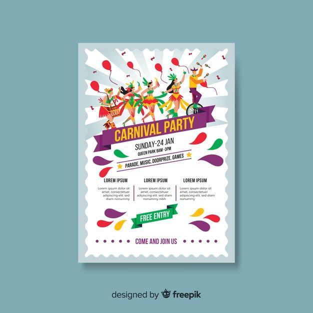 Download Carnival Party Poster Template For Free In 2020 Carnival Party Party Poster Poster Template Free