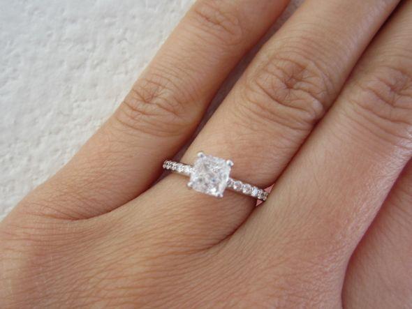 1 Carat Diamond Engagement Ring On Hand 37