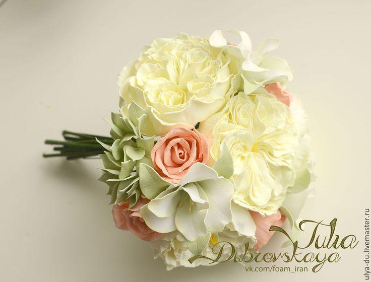 Прекрасные цветы из фоамирана Юлии Дубровской  Заколка/Брошь Роза