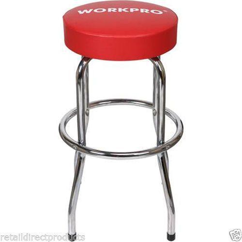 Work-Pro-Swivel-Seat-Shop-Stools-Mechanic-Garage-Bar-Chairs-Chrome-Anti-Slip-NEW