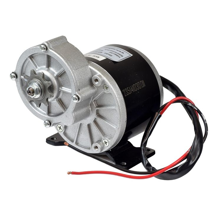 "Order the 24 Volt 350 Watt MY1016Z3 Gear Reduction Electric Motor with 9 Tooth 1/8"" Bicycle Chain Sprocket from Monster Scooter Parts, and know you are getting quality scooter parts at a great price."