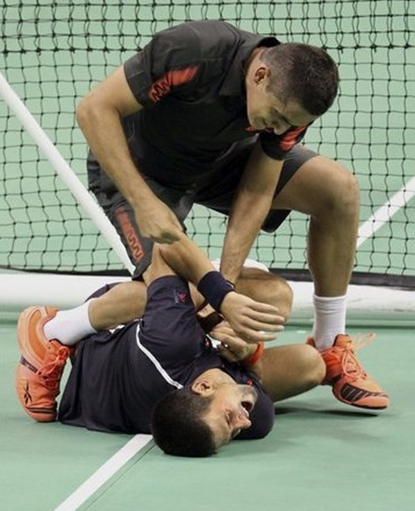 Novak Djokovic fight with Nicolas Almagro
