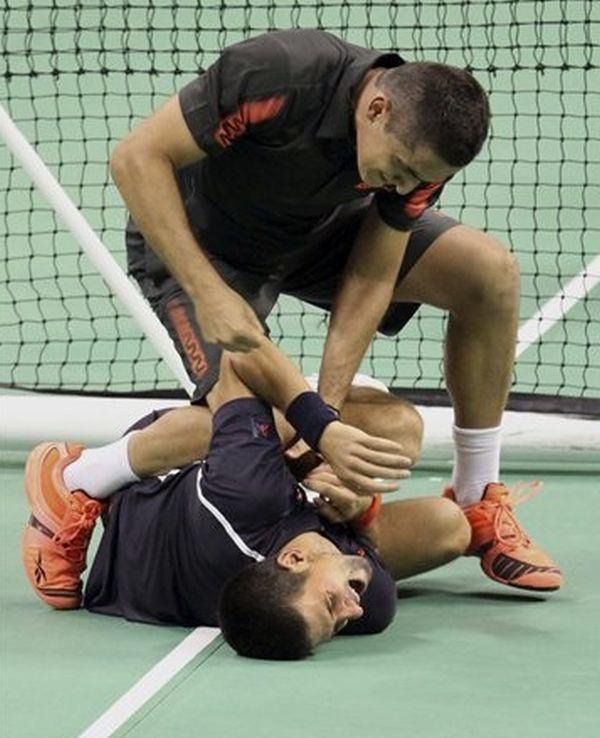 Novak Djokovic fight with Nicolas Almagro