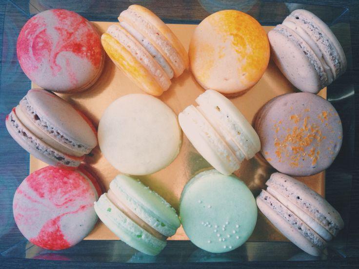 A dozen French Macarons from www.honeybutterdesserts.com #honeybutter #desserts #macarons #frenchmacarons #toronto