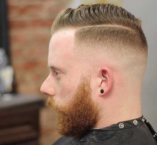 Quiff Haircut with High Drop Fade - Crew Cut Haircut
