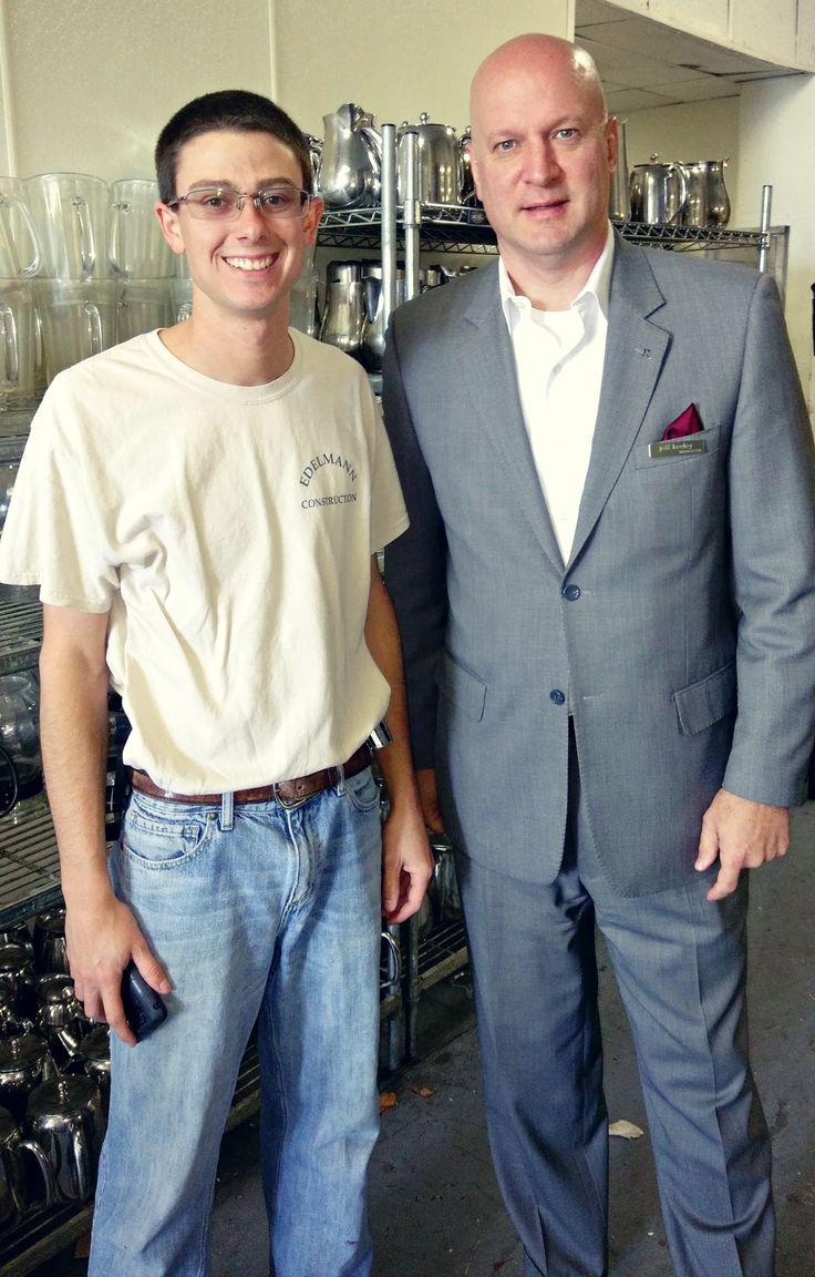 Ryan Eldemann of Eldemann Construction & General Manager Jeff Keeley