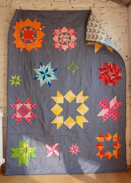 ulrikes sterne_lieblingsdecke krabbeldecke quilt