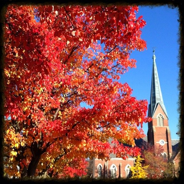 View of First Presbyterian Church from Library parking lot | Instagram photo by Yvette Kuhlman