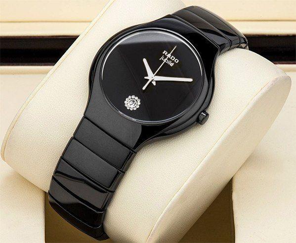 Часы Rado Jubile на керамическом ремешке (черные)