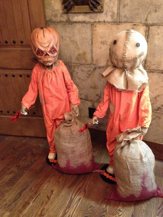 trick r treat sam life size figure by creaturerevenge on etsy - Terrifying Halloween Decorations