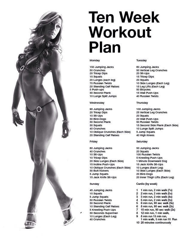 Easy daily workout plan