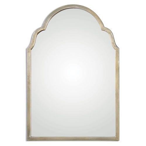 Master Bath Mirror Brayden Silver Arch Mirror Uttermost Arched & Crowned Mirrors Home Decor