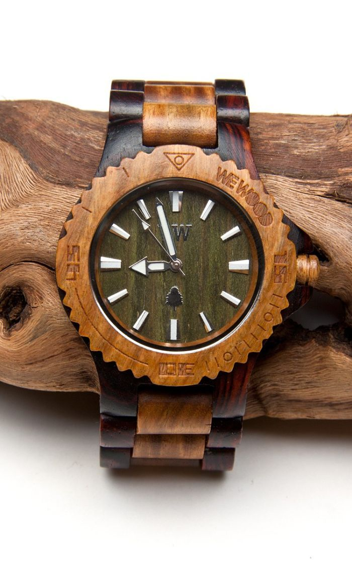 the beautiful Army/Brown Date Wewood watch - we love it! £88.99 www.we-wood.co.uk