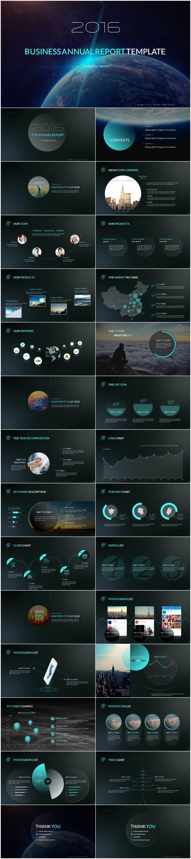 [简单出品]2016年终简约商务汇报演示模版之Circle - 演界网,中国首家演示设计交易平台