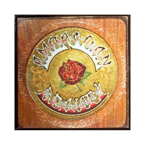 Glittered Grateful Dead American Beauty Album @Vintage Vinyl @Grateful Dead @Deadhead