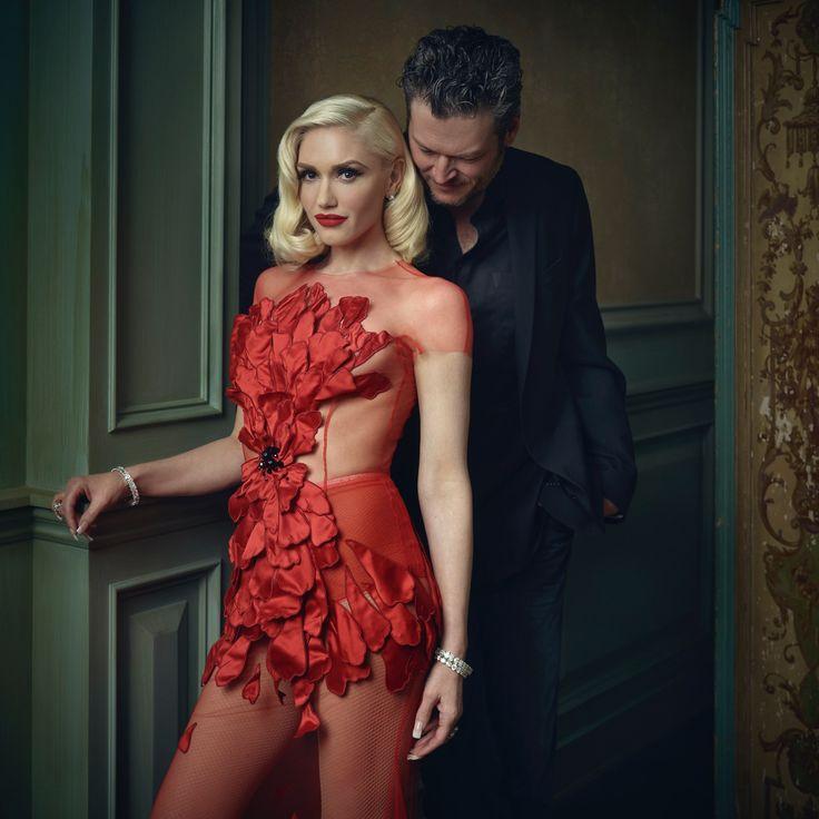 Gwen Stefani and Blake Shelton | Mark Seliger's Vanity Fair Oscar Party Portrait Studio