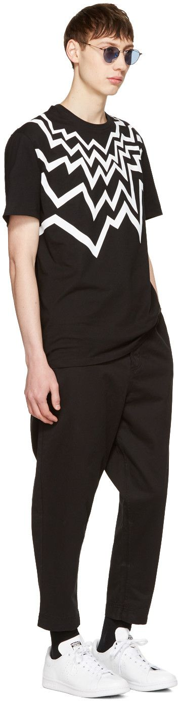 Neil Barrett - Black Serrated Fairisle T-Shirt