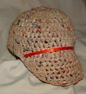 Recycled Plastic Baseball Cap free crochet pattern