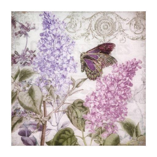 Romance del Victorian, lavanda Impresiones En Lona