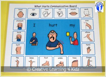 Autism What Hurts Communication Board Visual PECS