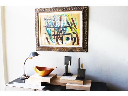 Meridian Mercado Diseño home store in Los Angeles's Highland Park neighborhood.: Tabletop Vignettes, The Angel