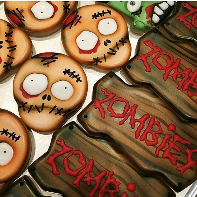 Zombie cookies By @sugarblisscookies