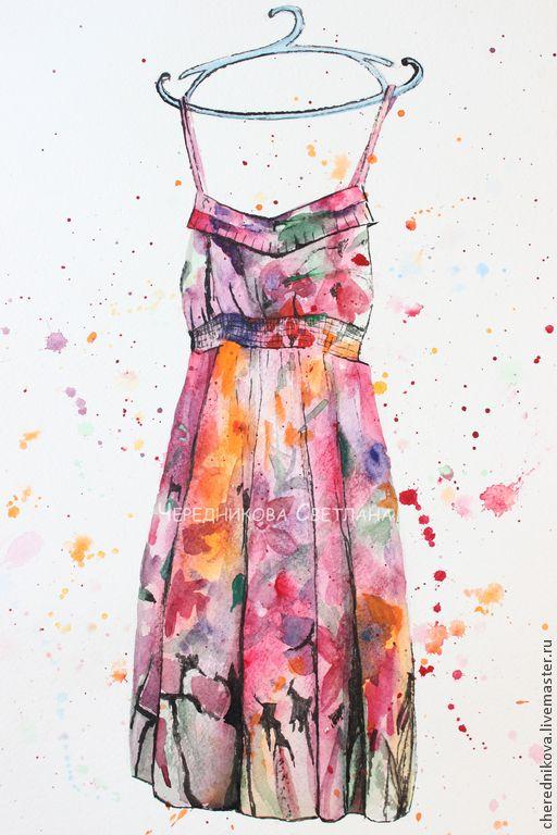 В ожидании лета - разноцветный,акварель,акварельные краски,акварельная бумага