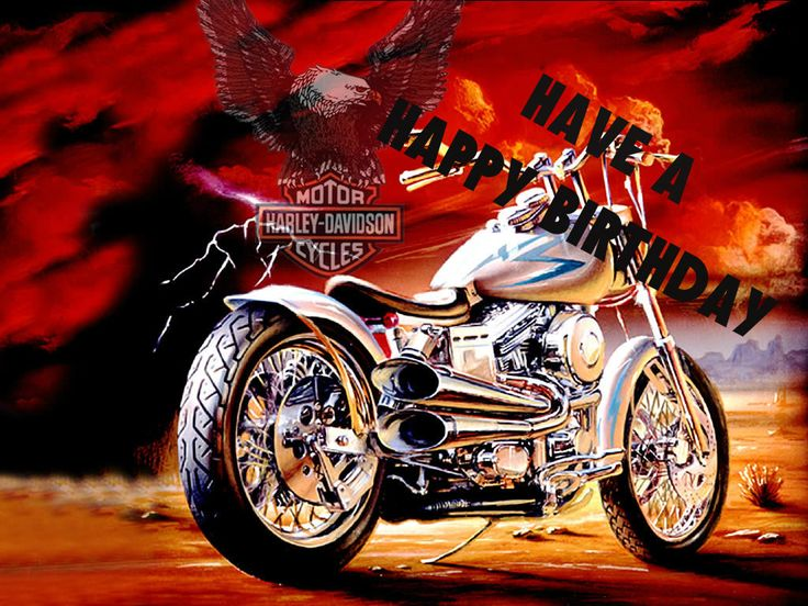 happy birthday harley davidson pictures | The only time I open my mouth is to change feet