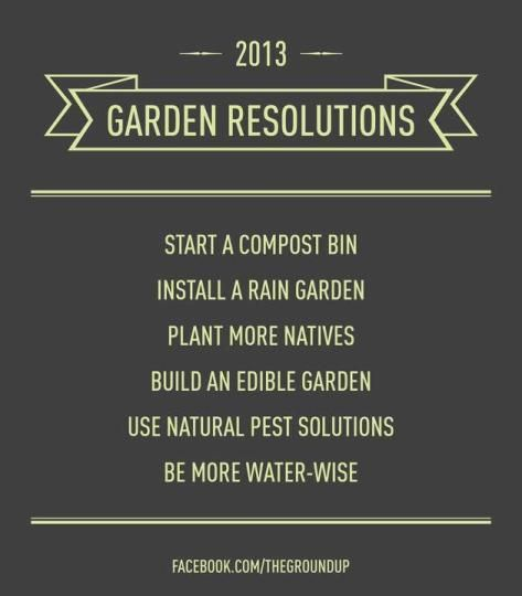 happy new year!: Compost Bins, Gardens Ideas, Rain Gardens, Edible Gardens, 2013 Gardens, Gardens Plans, Resolutions 2013, Gardens Resolutions Check, Gardens Growing
