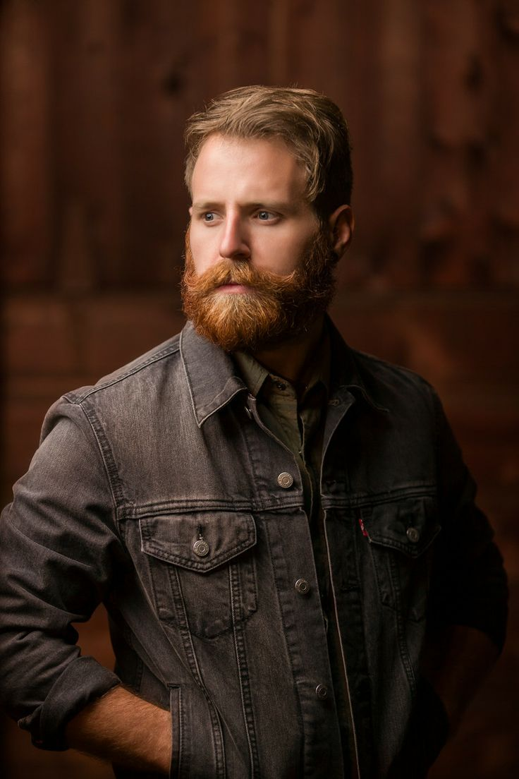 a lovely red beard and huge, awesome mustache beards bearded man men mens' style denim redhead ginger