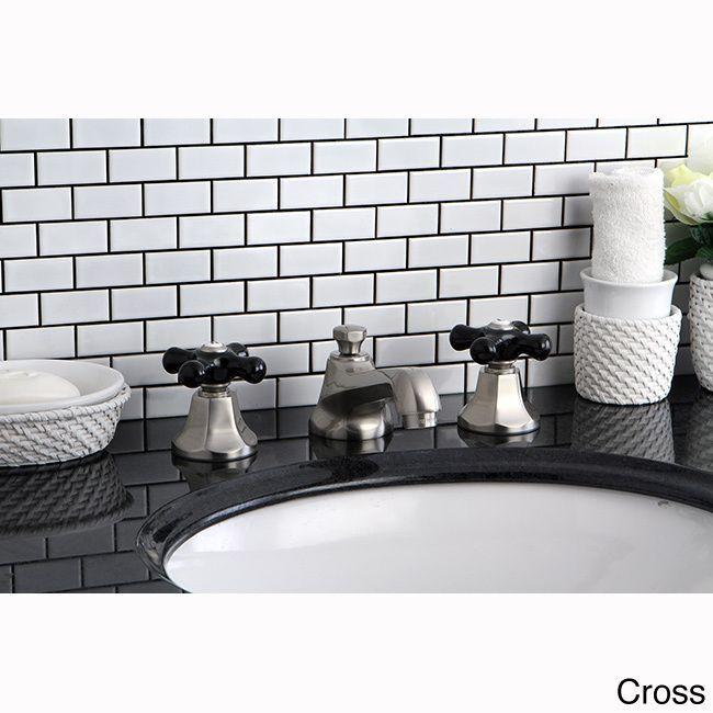 Kingston Satin and Black Widespread Bathroom Faucet