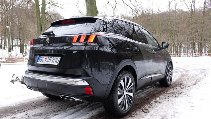 Peugeot 3008GT 2017 model from back Car Specification: 2017 model, Peugeot 3008 GT, color: Smart Grey & Black Perla Nera, 2.0 liter Diesel engine, 180hp, 400Nm at 2000rpm, 6-speed AT (6EAT) and only Front wheel drive.