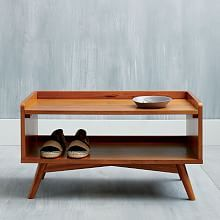 mid century shoe rack or coffee table entryway bench