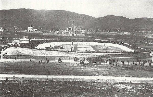 Ολυμπιακό Ποδηλατοδρόμιο στο Ν. Φάληρο το 1896, σήμερα Καραϊσκάκη