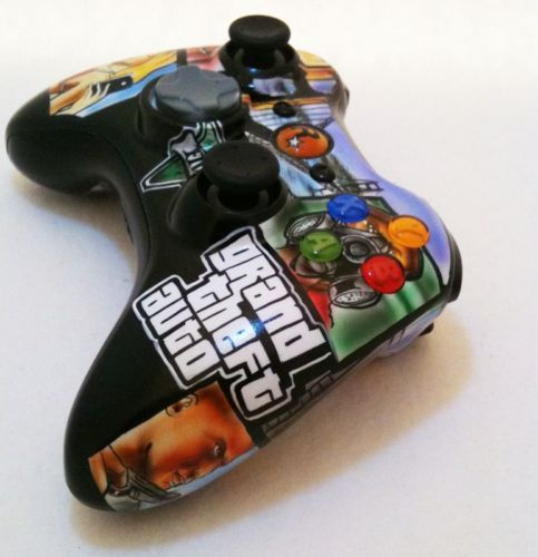XBOX 360 WIRLESS CONTROLLER - GRAND THEFT AUTO 5 - ONE OF A KIND also avail. at http://www.1stopairbrush.com/gaming_pg1.htm