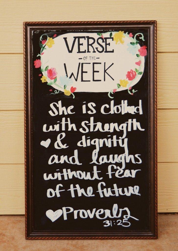 """""""Verse of the week"""" Chalkboard"""