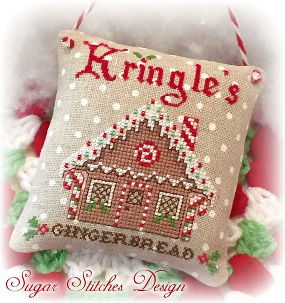 Pan de jengibre Navidad de Kringle punto de por SugarStitchesDesign