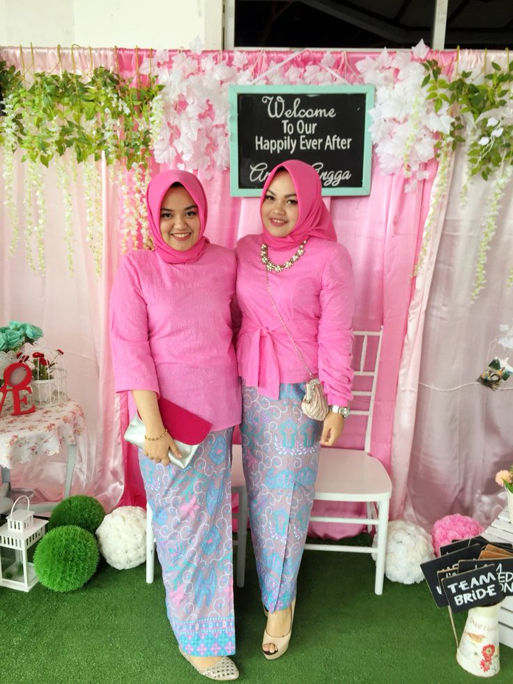 we believe in pink #pink #bridesmaids #bridesmaidsdresses #hijabfashion #hijab…