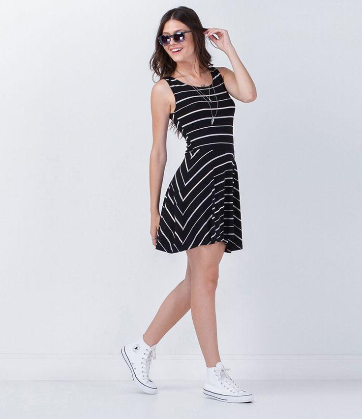 Vestido Listrado - Lojas Renner