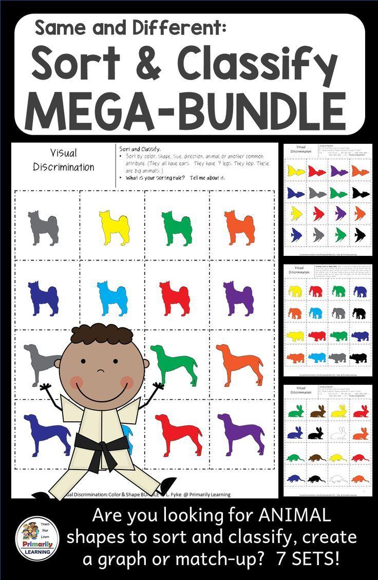 Same And Different Shapes Mega Bundle 7 Sets Distance Learning