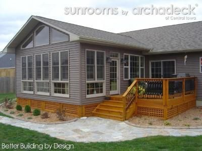 MY FINISHED SUN ROOM ADDITION   4-Season Room Addition (Exterior) Des Moines - Boone