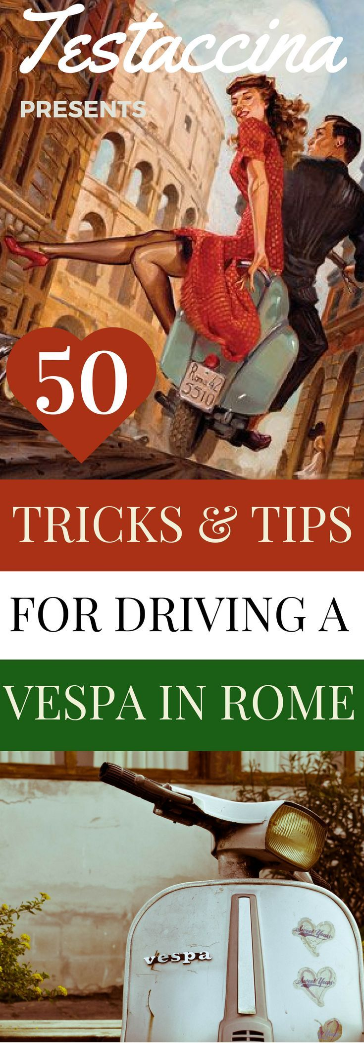 Ever wanted to hire a scooter in Rome? Read this easy guide to driving a Vespa through the Eternal City with some streetwise tips for handling a motorino in Italy.
