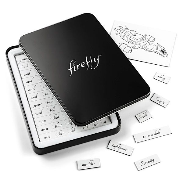 Firefly Magnetic Poetry not necessarily firefly want but the magnetic word poetry is on my list for sure