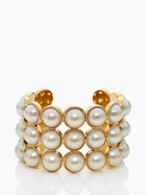 pearl cuff. love it. @Kate Mazur spade new york
