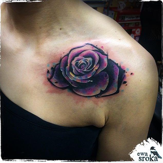 Rose Tattoo For Men Shoulder