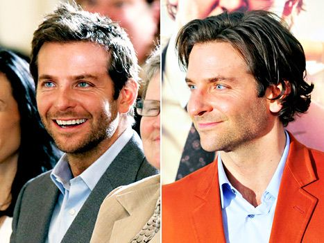 Bradley Cooper showed off a short new haircut (left) at a White House conference on mental health on June 3, 2013. He previously had longer hair (right).