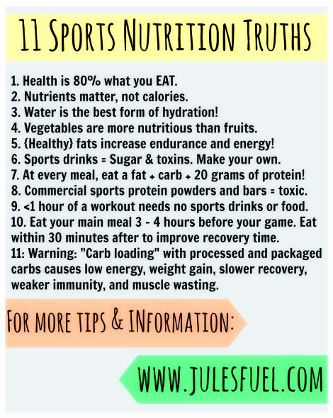 11 simple sports nutrition truths... if only I had these when I was a young athlete! #sports #nutrition
