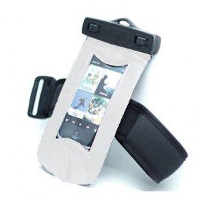Vandtæt Armbånd Pose til mobiltelefon (Hvid)