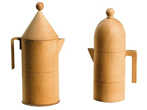 Models for Aldo Rossi designed Espresso makers made by Giovanni Sacchi
