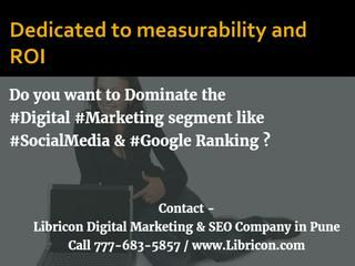 Dedicated to measurability and roi  SEO Expert in Pune are highly focused on Moral, Organic and Professional search engine optimization.